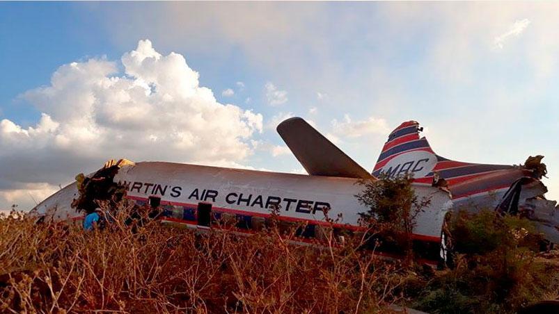 Pasajero grabó el aterrador momento en el que su avión se estrelló