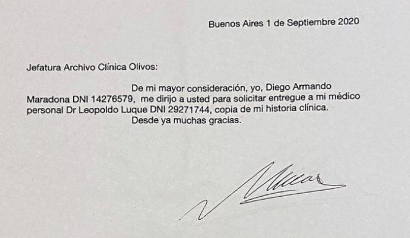 La Justicia comprobó que Leopoldo Luque falsificó su firma — Diego Maradona