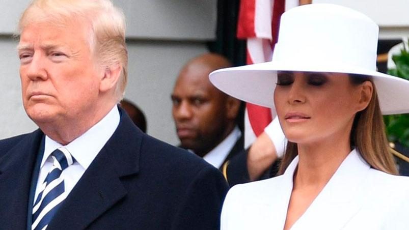 Melania le hizo pasar otro momento incómodo a Donald Trump