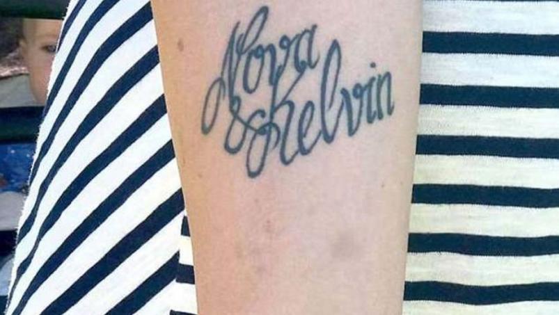 nova y kelvin tatuaje