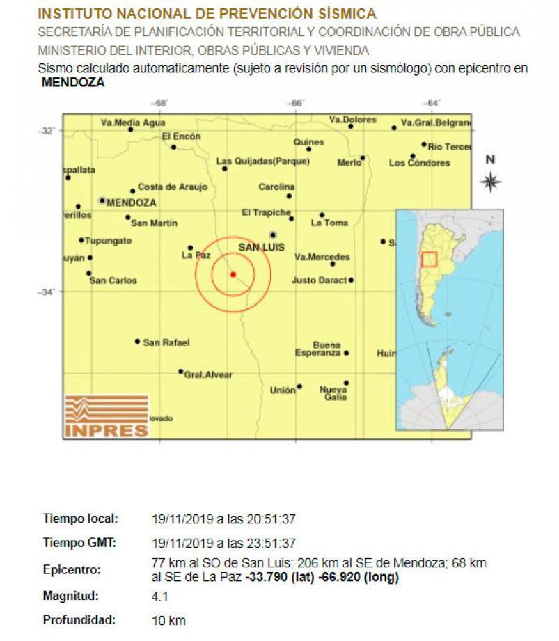 Fuerte temblor se sintió en Mendoza y en varias zonas del país