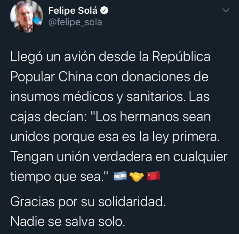 Coronavirus En Argentina La Frase Del Martín Fierro Que Usó China En Las Donaciones Eldoce Tv