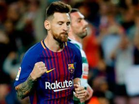 dfe9f463006cc El show de Messi  metió cuatro goles en el triunfo de Barcelona