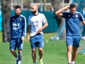 ede7f6ef5f1e7 lionel messi javier mascherano seleccion argentina