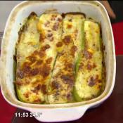 Zucchinis gratinados con escabeche