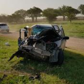 accidente muerte victima fatal ruta 19 autos transito viento tierra