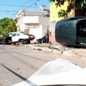 impresionante accidente en barrio muller
