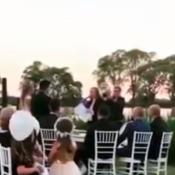 Damián Córdoba y Eloisa Quinteros en su boda.