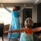 Padre e hijo bailando