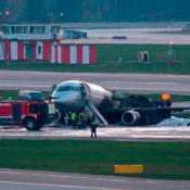Incendio avión Moscú