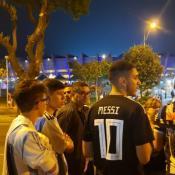 El Doce está en Brasil y habló con los hinchas después del partido.