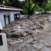 huerta grande inundacion tormenta creciente