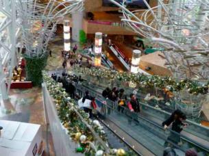 shopping escalera mecánica
