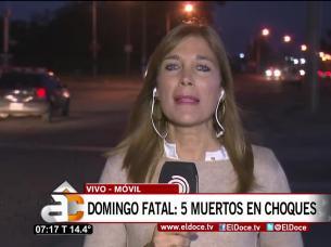 cinco muertos en choques