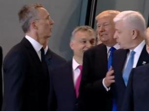 El empujón de Trump al primer ministro de Montenegro