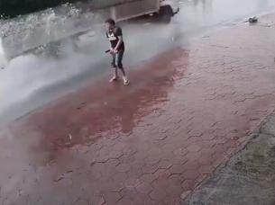 Hizo pis en la calle Vietnam