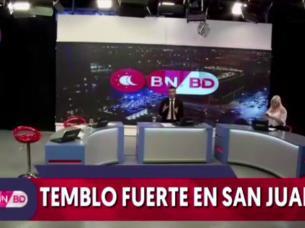 temblor sismo terremoto san juan television noticiero